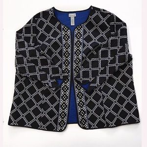 NWT Catherines open blazer jacket cardigan size 4X